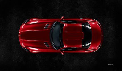 Mercedes Benz SLS AMG (top view)