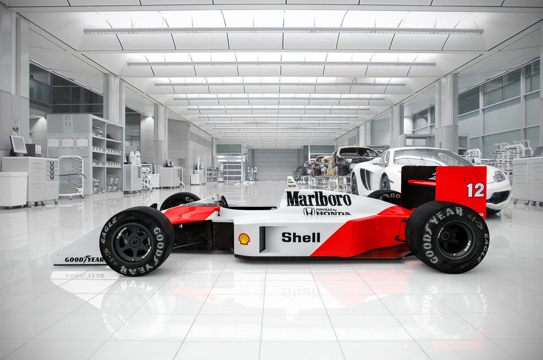 1988 Mclaren Mp4\4 at Mclaren Centre by Laffonte