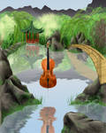 Cello on Water II