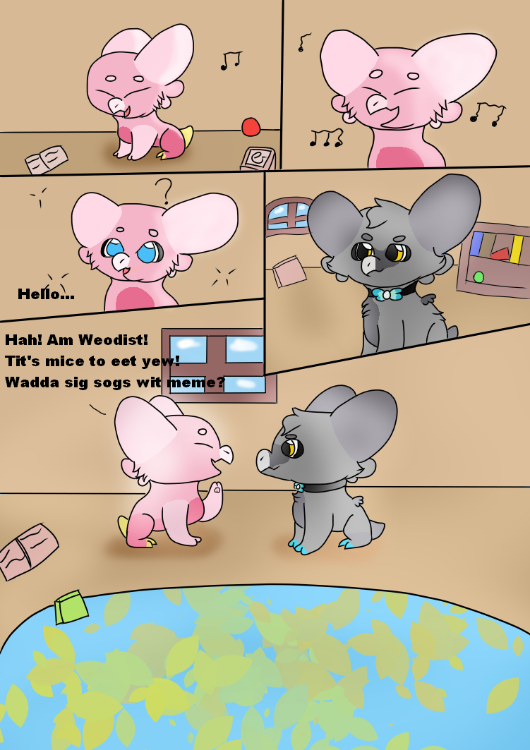 Wyngro! A New Friend(?) COMIC by kirbywarriors