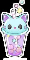 Cute cat bubble tea