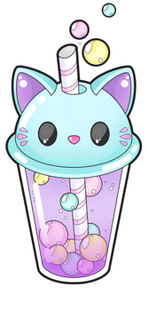 Cute cat bubble tea