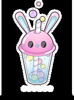 Bunny bubble tea by Meloxi