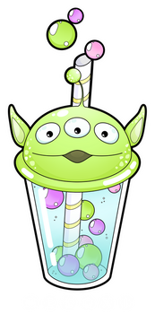 Alien bubble tea