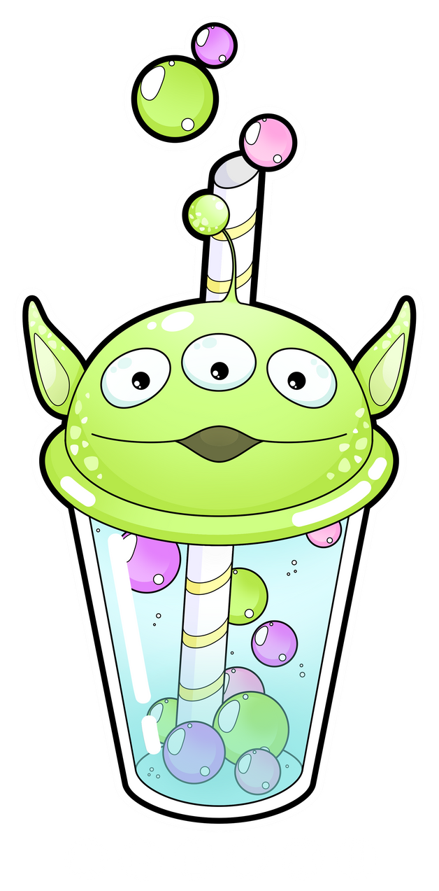 This is an image of Adorable Boba Tea Drawing
