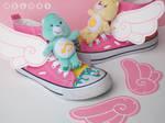 Cute wings shoes