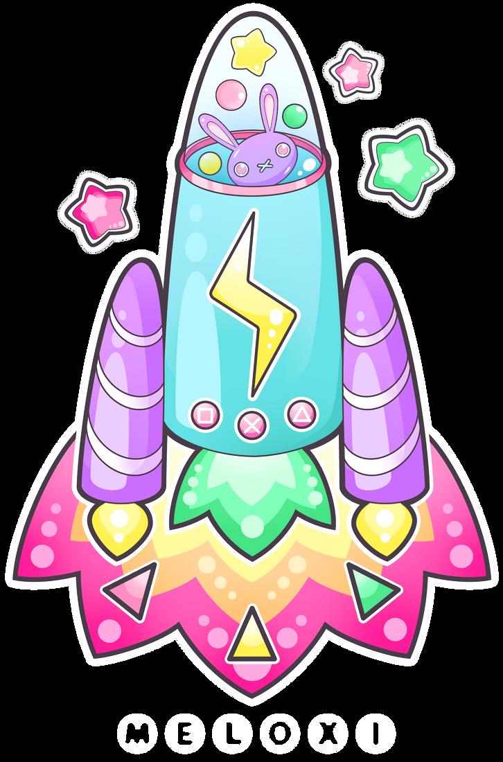 Cute rocket by Meloxi on DeviantArt