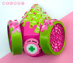 Strawberry gas mask