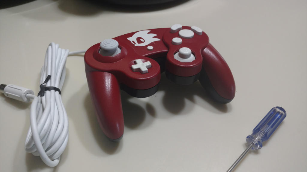 Red Sonic Custom Gamecube Controller by TradermonTrades on