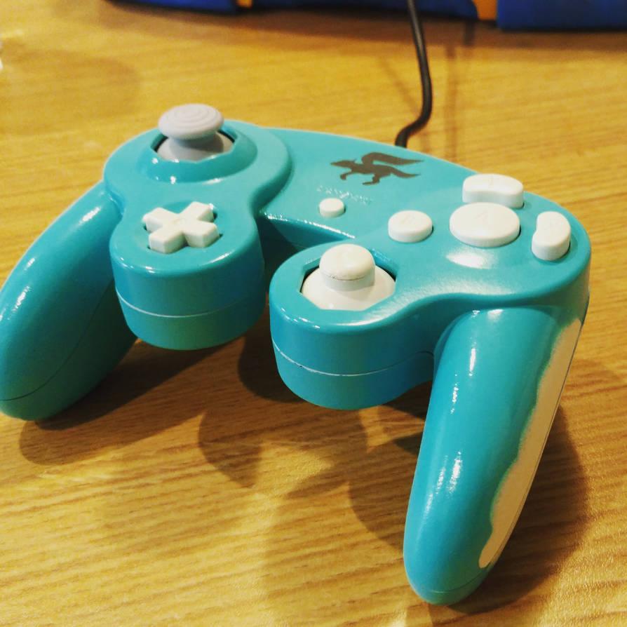 Sky themed Starfox Custom Gamecube Controller by