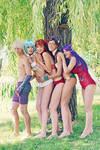 Evangelion Swimsuit Team