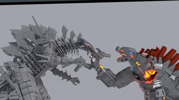 Mechagodzilla (2020) vs. Mechagodzilla (2017)