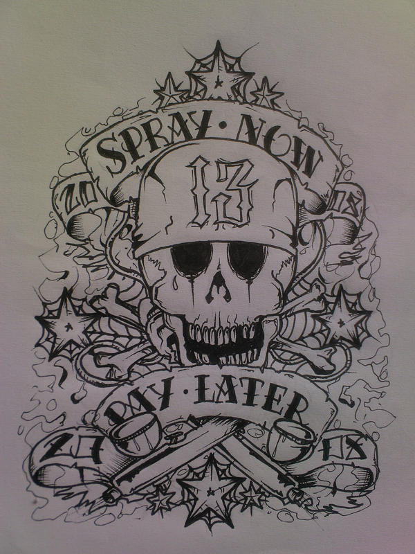 Spray now pay later 08 by shyne88 on deviantart for Oif tattoo designs