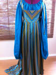Peacock Silk Italian Renaissance Gown Fairy