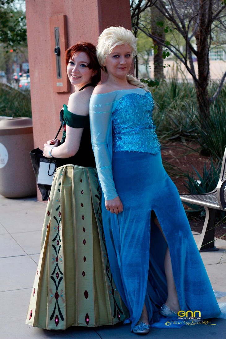 Frozen Disney Elsa and Anna cosplay Costume~ by Drkldysebastina ...  sc 1 st  DeviantArt & Frozen Disney Elsa and Anna cosplay Costume~ by Drkldysebastina on ...