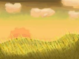 Golden Fields Background