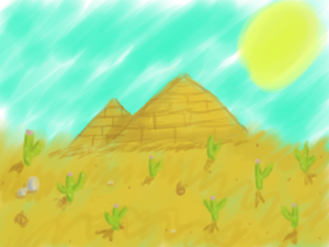 Just A Desert Scene (water color)