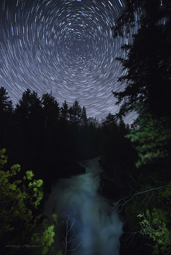 Ragged Falls under a moonless sky by right-angle