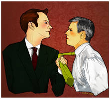 Cat got your tongue, Inspector? (Mystrade) by rykoe
