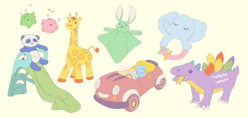Illustration commission for a kindergarten website
