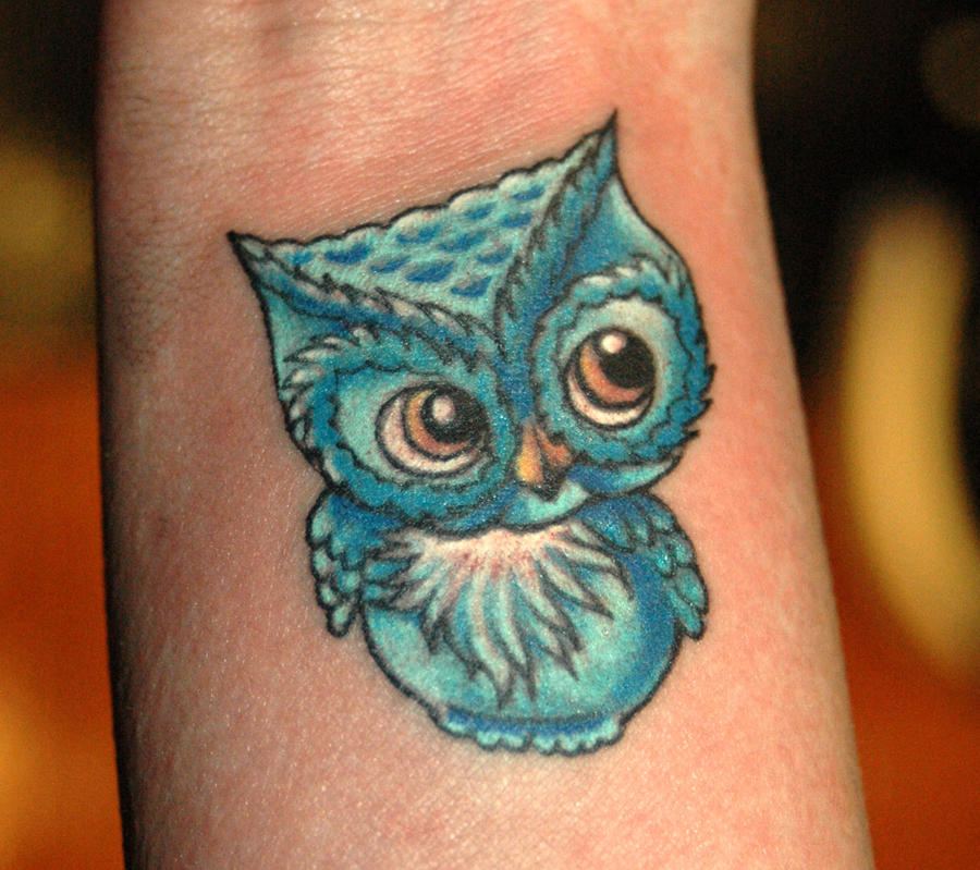 Little owl outline tattoo - photo#9