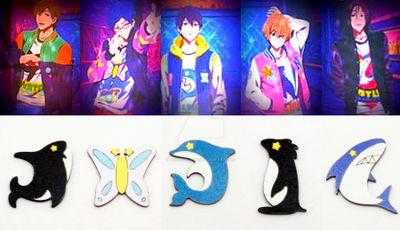 Free Iwatobi Swim Club fanmade brooches