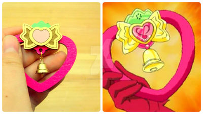 Tokyo Mew Mew Stawberry Bell fanmade brooch