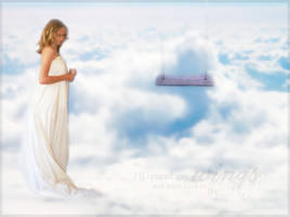 Angel and the swing by tenczerszofi