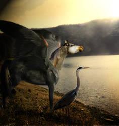 Great Blue Heron by disturbedchic