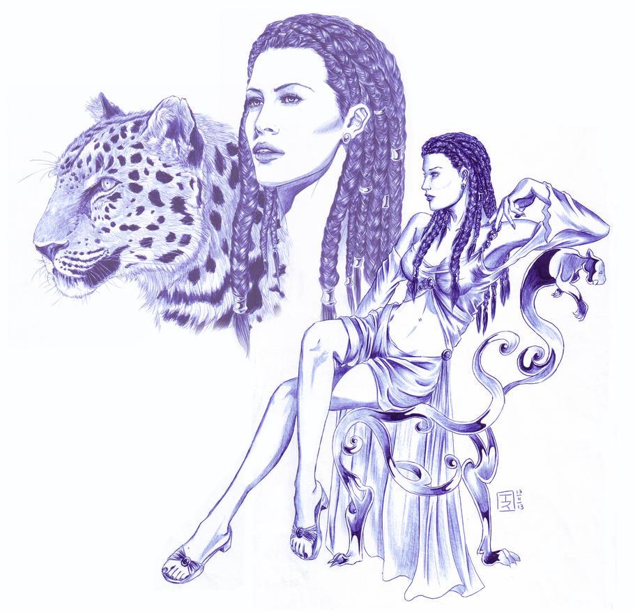 La Panthère du Keeshir by DameOdessa