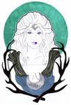 Inktober Day 18: Moon Goddess