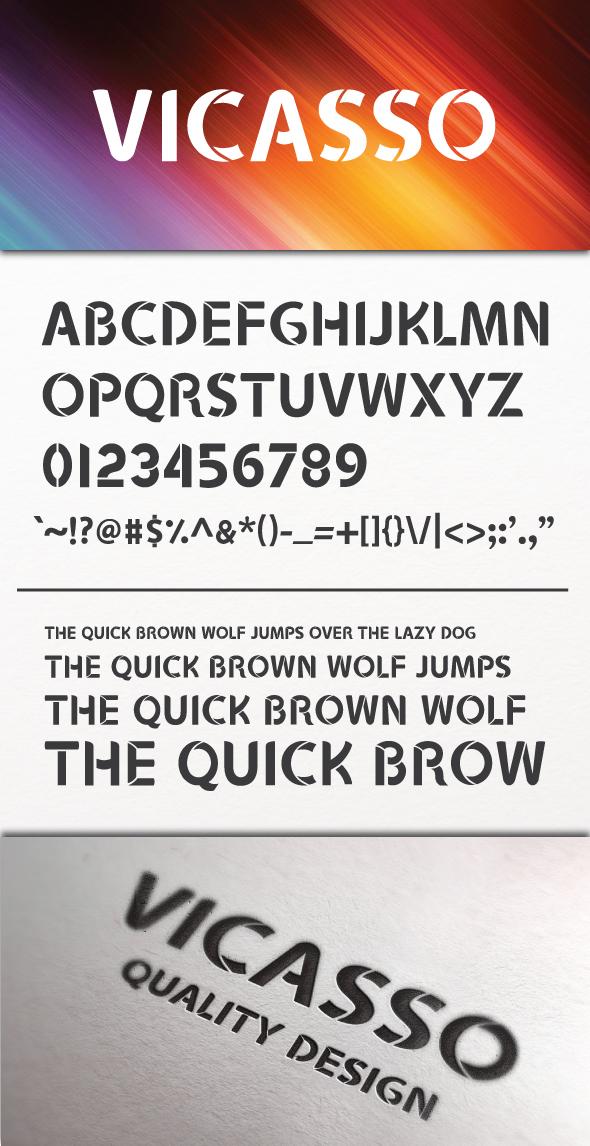Vicasso Font - Elegant Display Font by DeepBlueDesigns