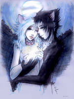 Mistoffelees and Victoria by mu-nin