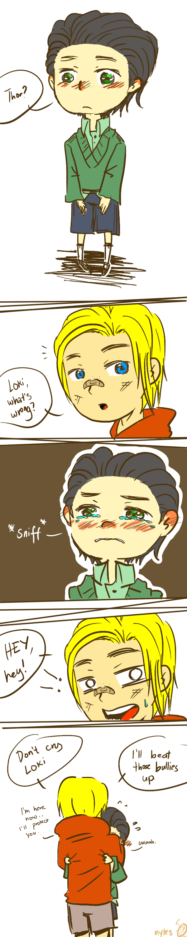 I'm here, don't cry (Thor/Loki) by Durch-Leiden-Freude