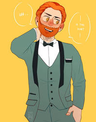 Ginger in Suit