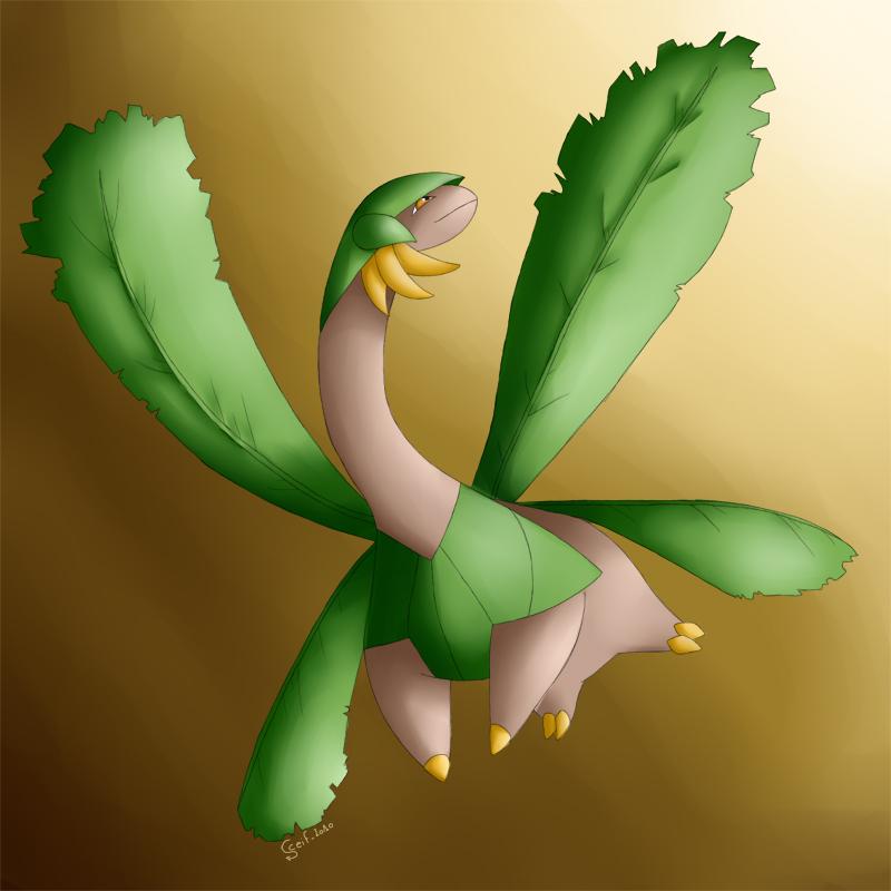 Tropius. The flying Dinosaur by Sceifrevan
