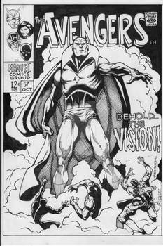 Avengers 57 darkAvengers cover reproduction.