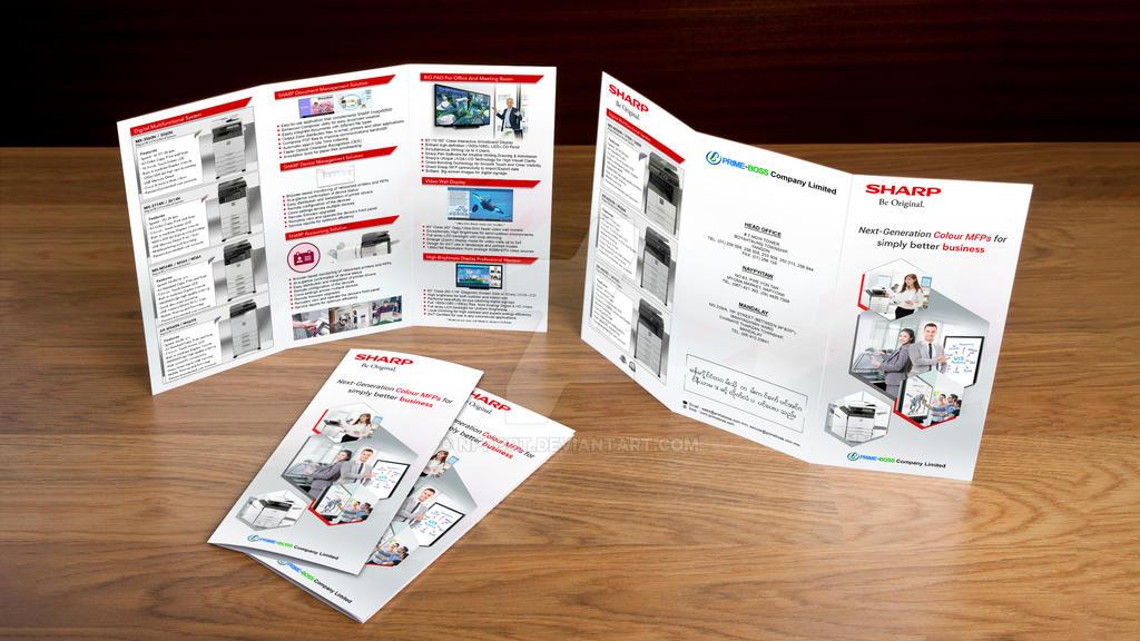 SHARP Myanmar Brochure Mockup by npport