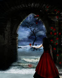 Bleeding, a rose. by HunterOfSolitude