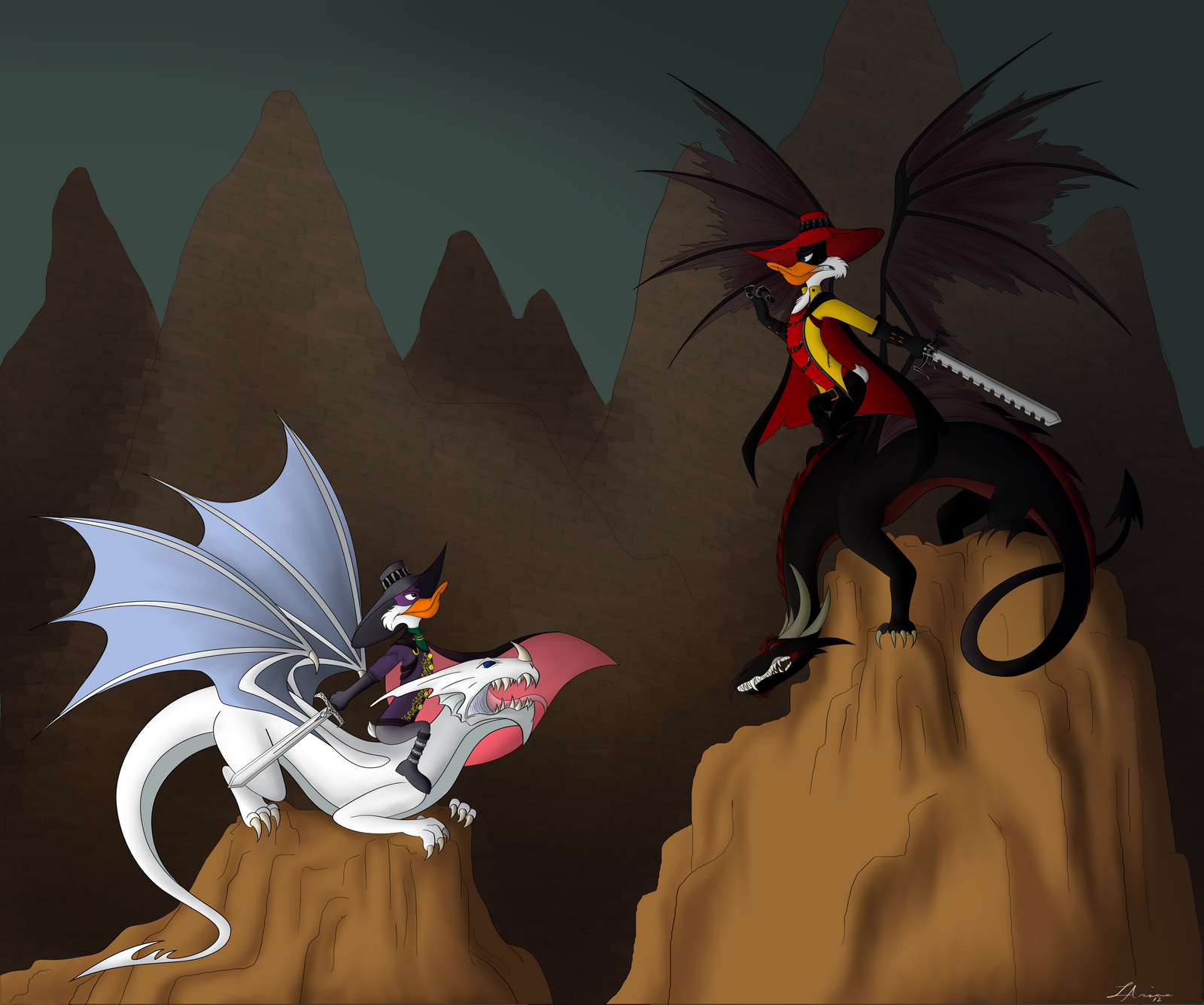 Drakes and Dragons by LadyAriaa