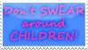 Don't Swear Stamp by katanabrin