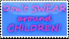 Don't Swear Stamp by katanabrin
