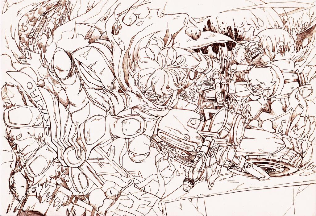 Line Work Art : Skyria line work by o mu on deviantart