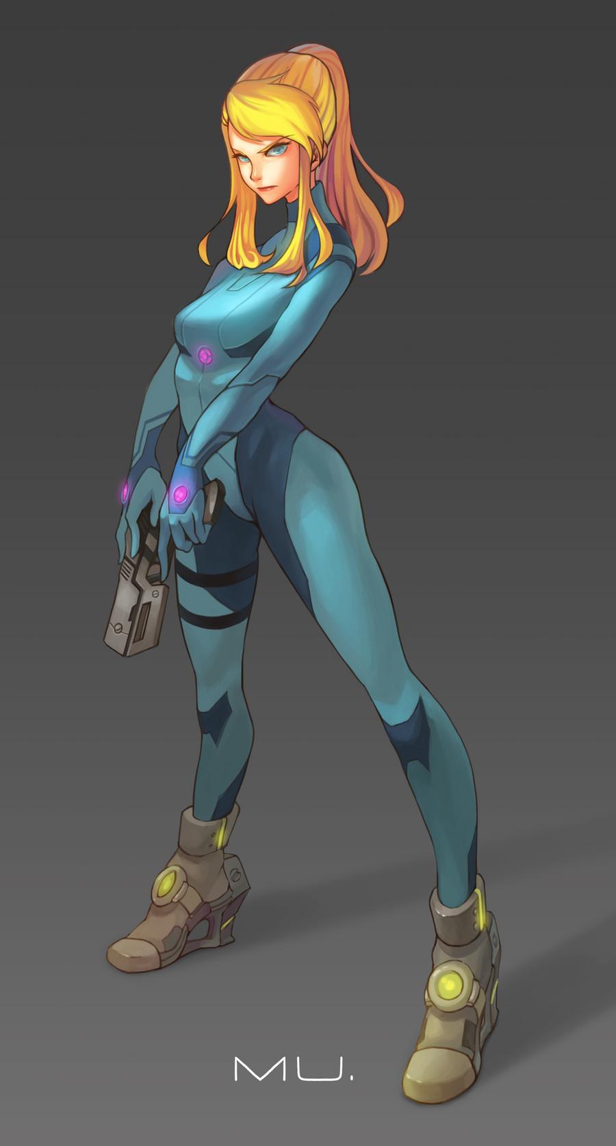 Samus:zero suit by o0-MU-0o