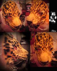 Amur leopard mask comission