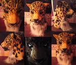 Amur leopard mask complete