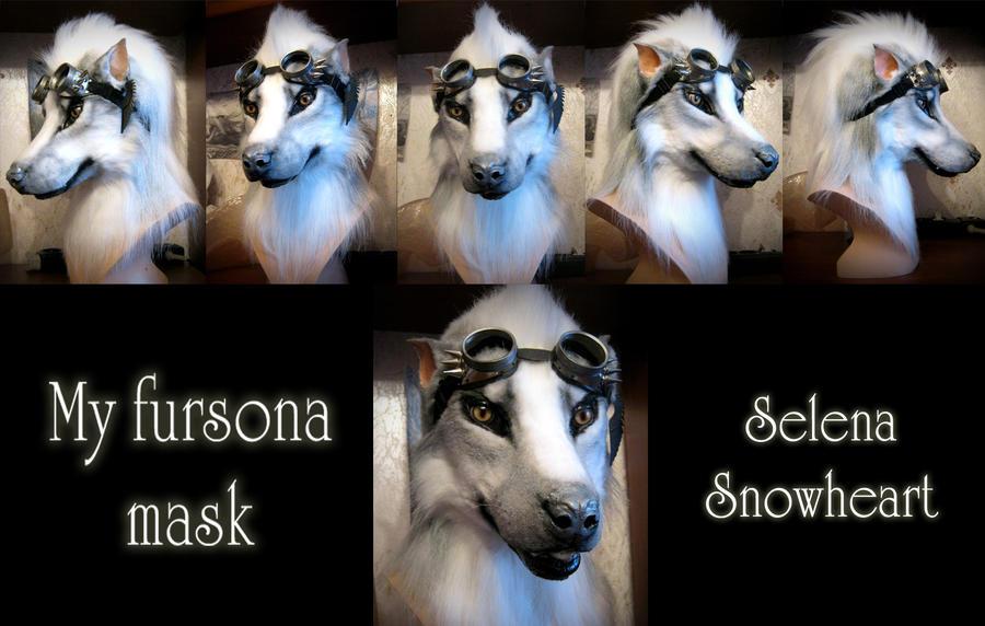 My old fursona head by SnowVolkolak