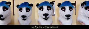 Big Panda head by SnowVolkolak