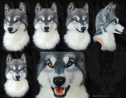 Wolfhusky hubrid Helmet by SnowVolkolak