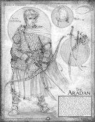 The Aradan: Page 7 of a conceptual sketchbook
